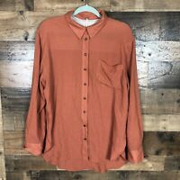 Free People Button Up Womens Top Size Large