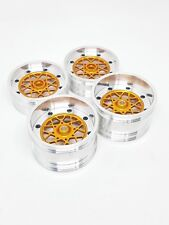 """Associated RC10 2.2"""" 3/16"""" axle two piece alloy wheels set skinny BBS"""