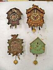4 ANTIQUE LUX OR KEEBLER PENDULETTE CLOCKS