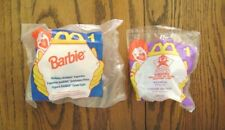 """1995-96--Barbie """"Holiday"""" & MIGHTY DUCKS """"Wildwing"""" (2-Toys) by McDonald's [NIP]"""
