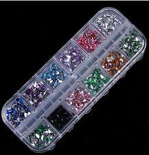 New Supplies Glitters Nail Art Rhinestones Tips Decoration Manicure Wheel 1200pc
