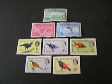 BRITISH HONDURAS, SCOTT # 156-158(3) +167-171(5),1960--62 POST OFFICE+BIRDS  MNH