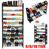 4/6/10 Tier Shoe Rack 50Pair Wall Bench Shelf Closet Organizer Storage Box Stand