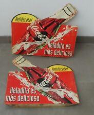 c740d0ecd57 2 ANCIENNE PLAQUES PUBLICITAIRE COCA COLA ENSEIGNE CAFÉ PEROU 1980 VINTAGE  PERU