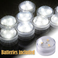 10/50pcs Submersible LED Tea Lights Candles Waterproof Small Underwater Decor