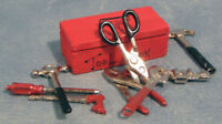 Dolls House Miniature 1/12th Scale Red Tool Box and Tools D554