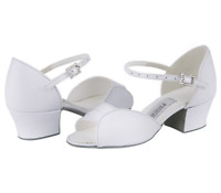 Girls Libby white leather ballroom shoes by Freed  size 12- 5 inc 1/2 sizes