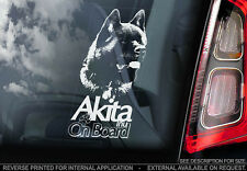 American Akita - Car Window Sticker - Dog Sign -V04