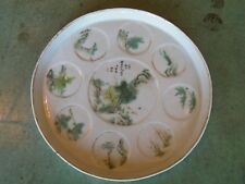 Antique Chinese Painted Porcelain Tea Tray with Signature Calligraphy 19th C