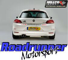 Milltek Scirocco GT 2.0 TSI Exhaust System Cat Back Resonated SSXVW105 & TUV
