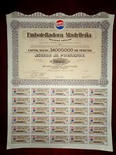 Pepsi bottling Sock cert.Embotelladora Madrileña,Spain Good