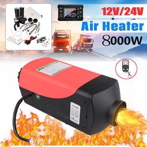 12V 8KW Air Diesel Heater Affichage à télécommande Voiture Chauffage Réchauffeur