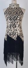 1920's Flapper Dress Party Sexy Gatsby Sequin Tassel Plus Size Dress  AF 3225