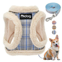 Pet Control Harness for Cat Dog Soft Fleece Padded Vest and Leash Clothes Yorkie