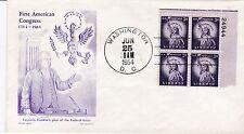 2nd day cover, Scott #1035 PB, Liberty, Mellone 11, Cachetcraft cachet, 1954