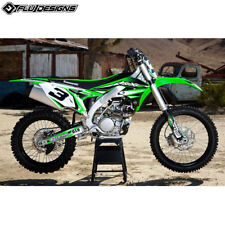 KAWASAKI KXF450 06-08  FLU PTS 3  FULL GRAPHIC STICKER  KIT