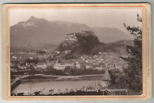 Salzburg vom Kapuzienerberg, Fotografie von 1890, Karlmann & Franke, Wien