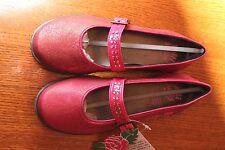 New RARE LELLI KELLY Disco Pink Jewel Glitter Mary Jane Dress Shoes eu 35 kid 4