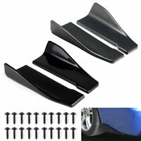 2Pc Universal Car Bumper Spoiler Rear lip Wrap Angle Canard Diffuser Protector