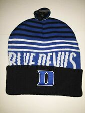 Duke Blue Devils Top of the World Knit Hat Striped Cuffed No Pom
