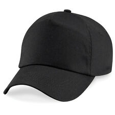 ORIGINAL 5 PANEL BASEBALL CAP, Beechfield Plain 100% Cotton Twill - 26 COLOURS