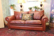 Duresta garrick model brown leather sofa new cost £4900