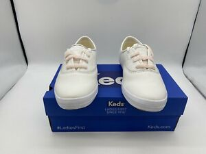 Keds Womens Champion Leather Shearling White Sneaker - Choose Size