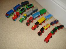 wooden thomas the tank engine + friends compatible - 7  train + 14 truck  bundle