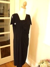 anthea crawford black evening dress worn once 18  deco style  stretch