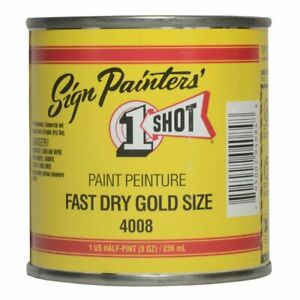 One Shot Paint 4008-Hp Fast Dry Gold Size One Shot Sign & Lettering Paint