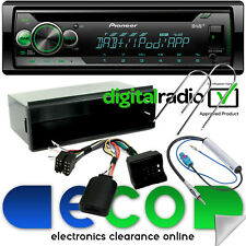 Peugeot 207 2006-12 Pioneer DAB Radio CD MP3 USB Automóvil Estéreo KIT & volante