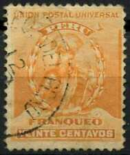 Peru 1896-1900 SG#344, 20c Orange, Pizarro Used #E1282