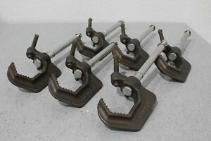 """Lot of 6 Altman 510-HD Lighting C-Clamps With 6"""" Removable Extensions SHIPS FREE"""