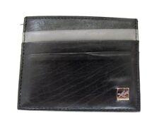 Kenneth Cole Mens Leather Card Holder Wallet Black