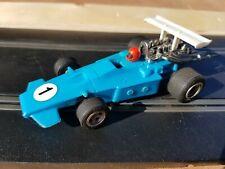 Vintage Scalextric scaletti ARROW C23 Azul Cielo década de 1970 probado y de trabajo