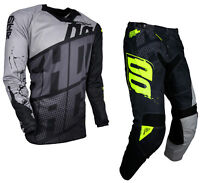 NEW 2018 SHOT VENOM MOTOCROSS MX ATV ENDURO PANT & JERSEY COMBO KIT GREY/BLACK