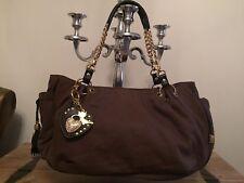 Authentic 'Lollipops Paris' Canvas handbag with bag charms & Mirror Chain Straps