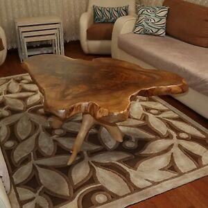 Live Edge Walnut Tree Root Amazing Naturally Form Wood Slice, Big Coffee Table