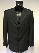 HUGO BOSS DARK GREY CHECK SUPER 100 WOOL SUIT JACKET SIZE 42