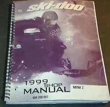1999 SKI-DOO MINI Z SNOWMOBILE SHOP SERVICE MANUAL P/N 484 200 007  (558)
