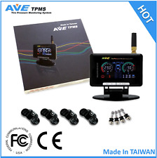 AVE TPMS FOR PASSENGER CAR, Wireless TPMS 4 Internal Sensors with LCD Display