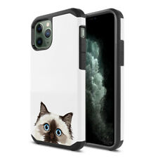 """For Apple Iphone 11 Pro 5.8"""" 2019 Cat Design Fusion Hybrid Silicone Case Cover"""
