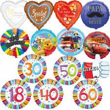 FOLIENBALLONS - Folienballon Luftballon Deko Kinder Geburtstag Party +/- Helium