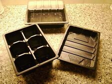 3 HALF SIZE SEED TRAYS & 3 TOPS & 3 X 6 CELL TRAYS 3 HALF SEED TRAYS NO HOLES
