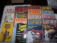 ELLERY QUEEN BOOKS MYSTERY MAGAZINES 15 LOT AGATHA CHRISTIE PAPERBACKS #10