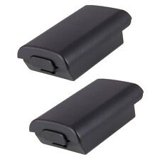 2pcs New Battery Pack Cover Shell Case for Xbox 360 Wireless Controller Black