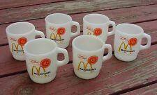 6 McDonalds Good Morning Fire King Coffee Mugs  NICE
