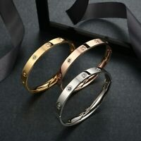 Stainless Steel Lover Bracelets Bangles For Women Charming Cuff Luxury Jewelry