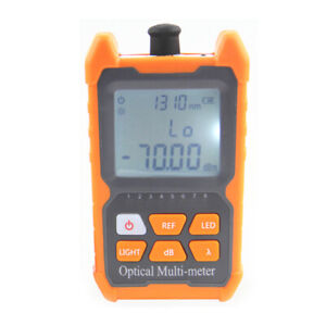 Portable Mini Fiber Optical Power Meter 8 Wavelengths with LED Light K4A3