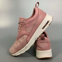 Nike Air Max Thea Women's Shoes Size 5.5 Pink Flats Trainers EUR 39 Leather